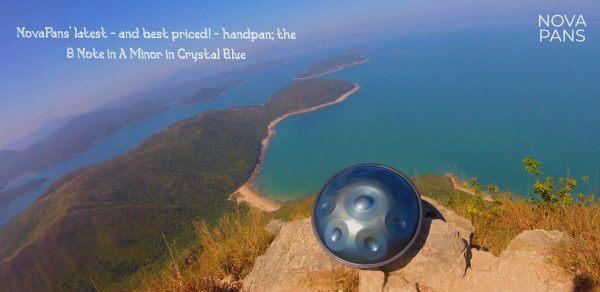 Handpan A Minor Crystal Blue - Novapans