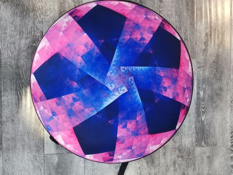 Handpan Hard Case in Pink & Blue by NovaPans Handpans